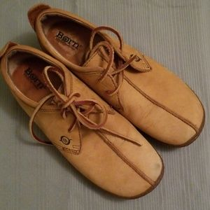 Born suede lace up flats